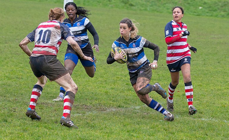 Bath Rugby Ladies' Barber takes hat-trick in win over Rosslyn Park
