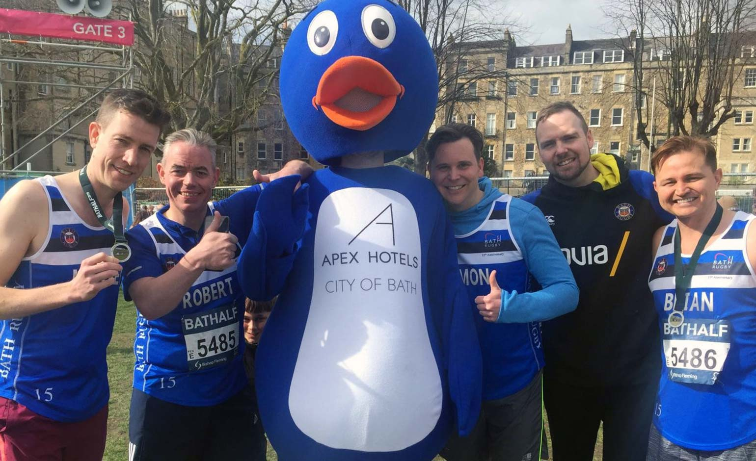 Apex Hotel Bath Half runners raise £2000 for the Bath Rugby Foundation