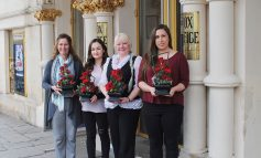 College students decorate Bath's iconic Theatre Royal and Pump Room