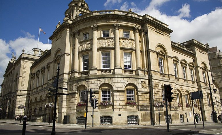 The Guildhall building in Bath