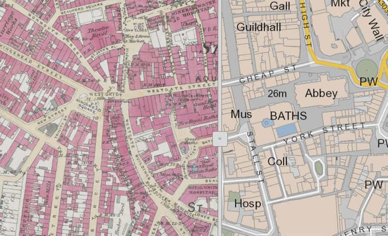 Map Of England Over Time.Historic Maps Of Bath And North East Somerset Go Online Thanks To