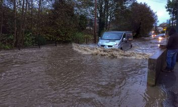 Roads across Bath severely affected by flooding following torrential rain