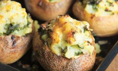 Riverford Recipe | Baked potatoes with cheesy kale filling