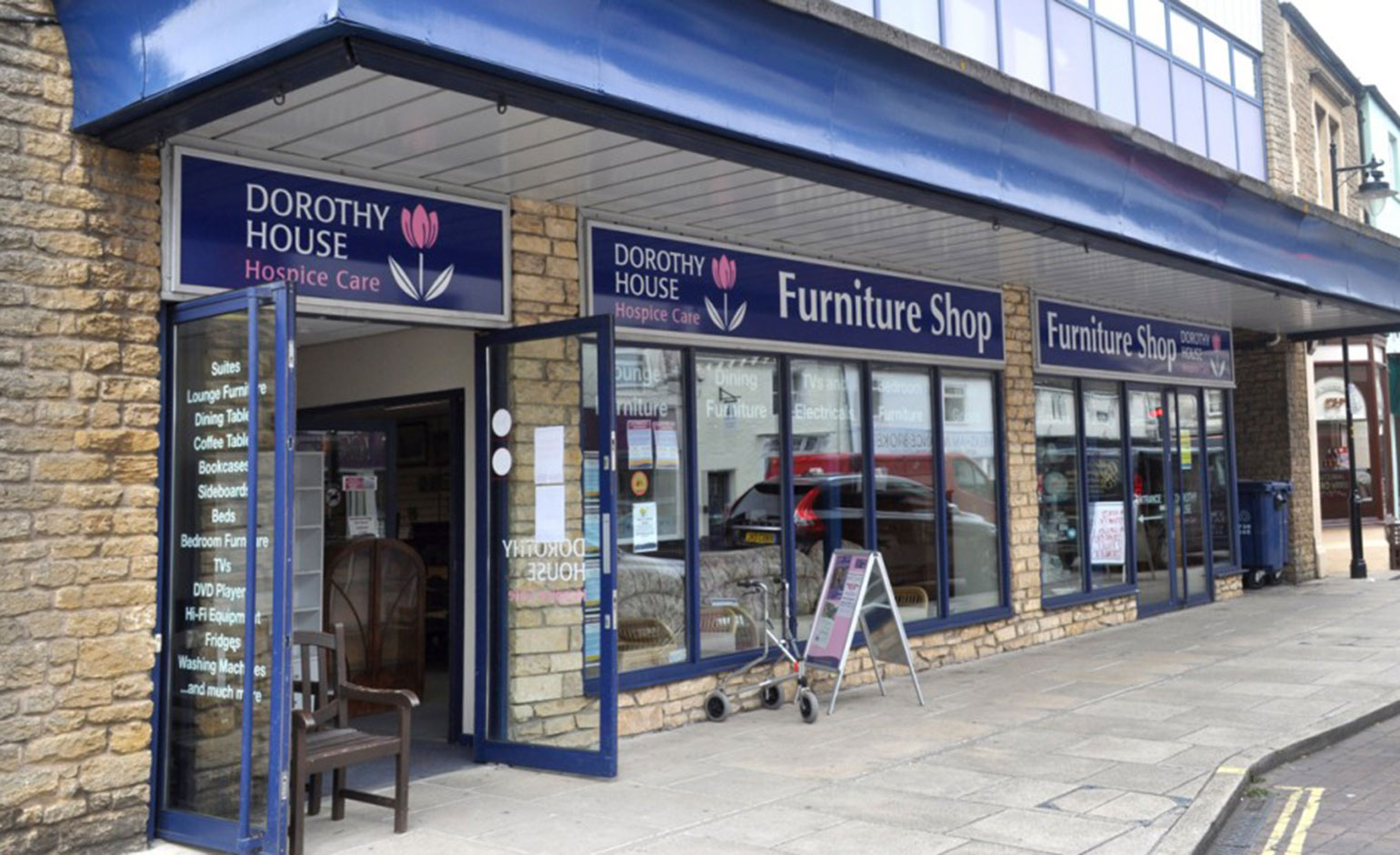 Dorothy house appeal for pre loved furniture donations to for Furniture charity shops