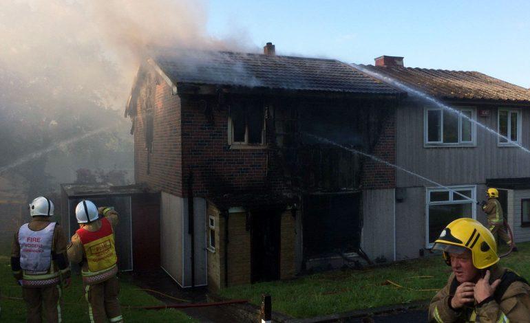 Black smoke seen across Bath as fire crews tackle serious house fire in Twerton