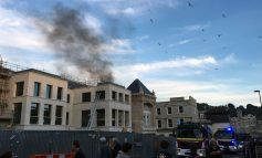 Fire crews tackle blaze at new Saw Close casino and hotel development in Bath