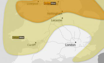 Strong winds expected across Bath as Storm Aileen batters parts of the UK