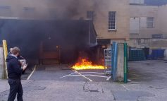 Fire crews tackle blaze at back of Marks & Spencer store in centre of Bath