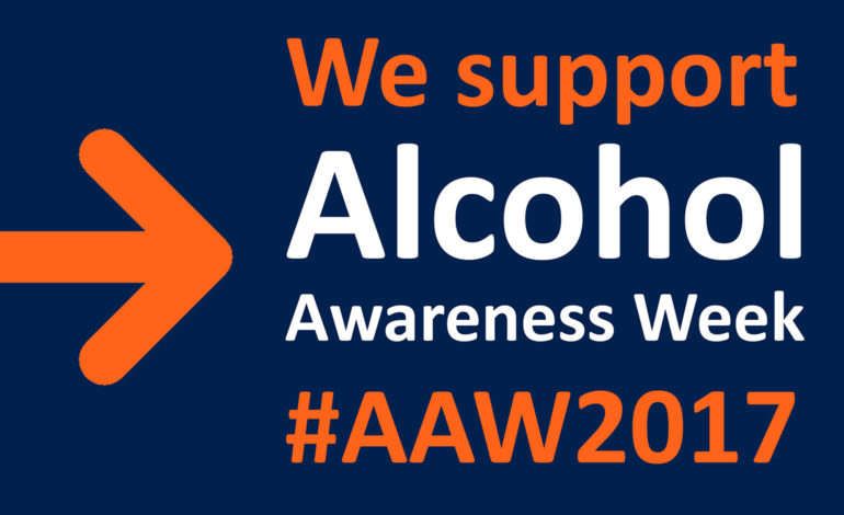 We support Alcohol Awareness Week poster