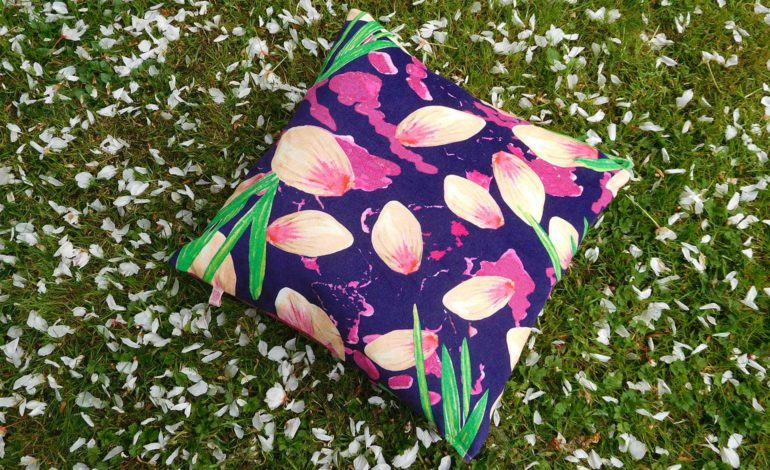 A cushion made by textiles students at Bath Spa Uni