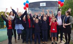 All aboard at St Saviour's Junior School as  First Bus donates bus to pupils