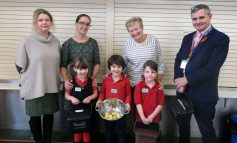 St Saviour's Infant School community cleans up with recycling campaign