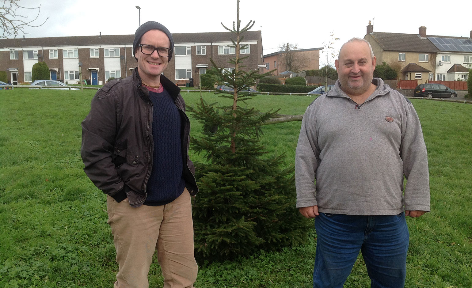 Peasedown St John's new Christmas tree marks National Tree Week