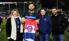 Bath Rugby Foundation charity thanks major supporter with special gift