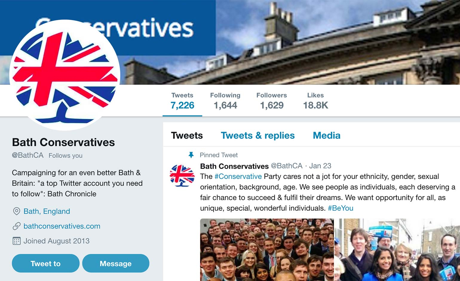 Bath Conservatives apologise for 'ill-judged' tweet on food poverty