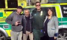 58-year-old cardiac arrest survivor meets his lifesaving team in Bath