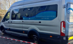 Thieves steal wheels and wing mirror from new Carers' Centre minibus