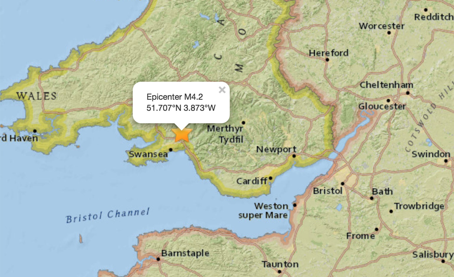 Strong earthquake felt by thousands of people across the South West