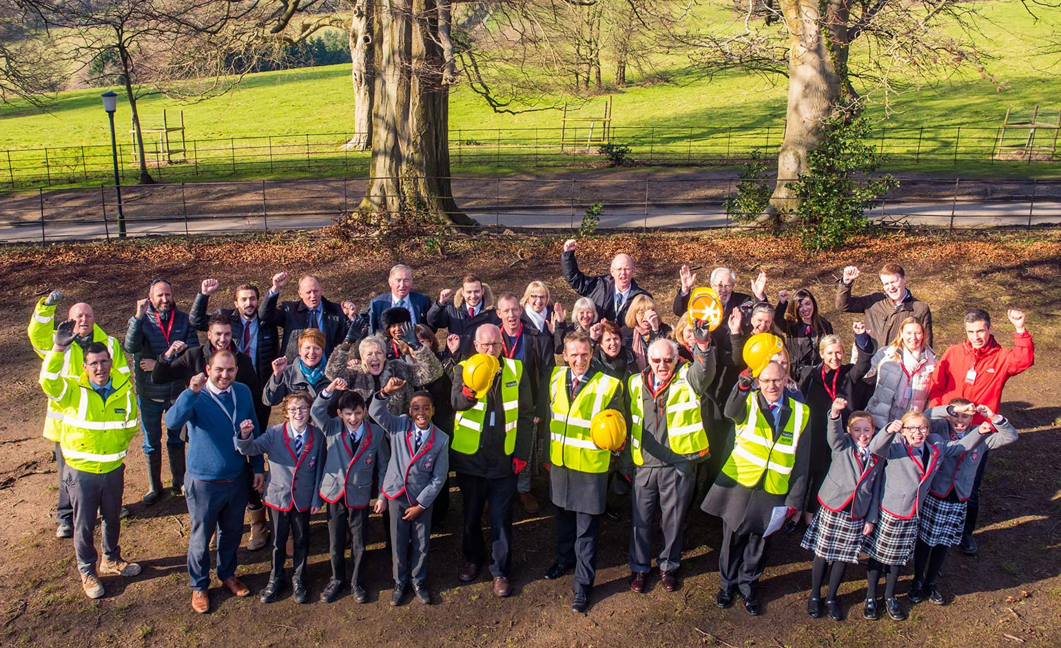 Midas Construction celebrates topping out at Kingswood Prep School