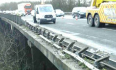 Work continues to repair damaged barriers on M4 after lorry overturns