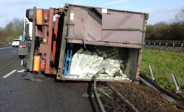 Work continues to repair damaged barriers on M4 after lorry