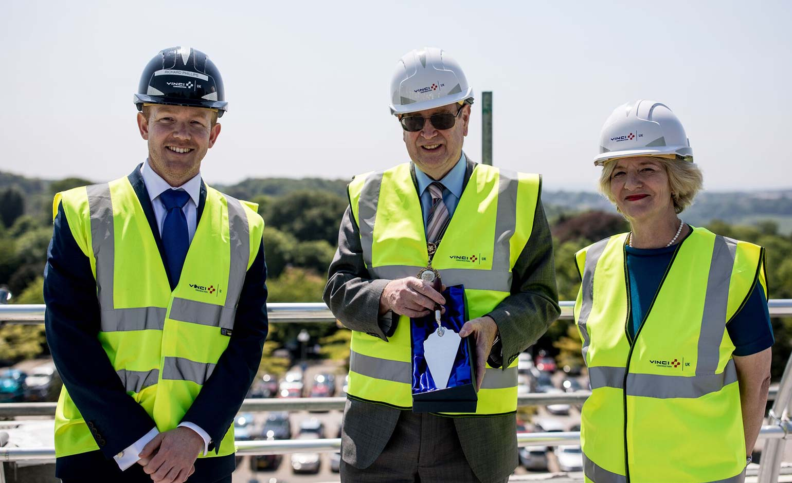 University of Bath celebrates 'topping out' of new student accommodation