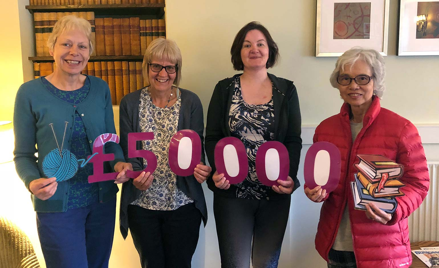 Local community group raises £50,000 for RUH's new Cancer Centre