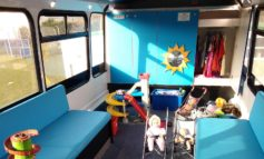 Bath City FC opens its doors to new community play bus for local families