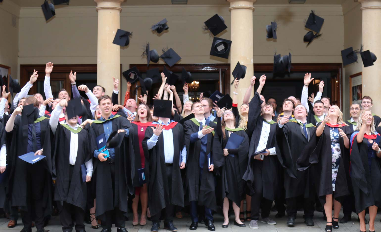 Students celebrate their success at Bath College graduation ceremony