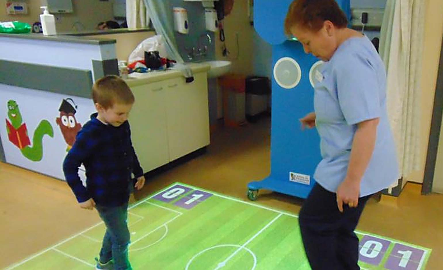 Special sensory projector helps keep children at the RUH on their toes