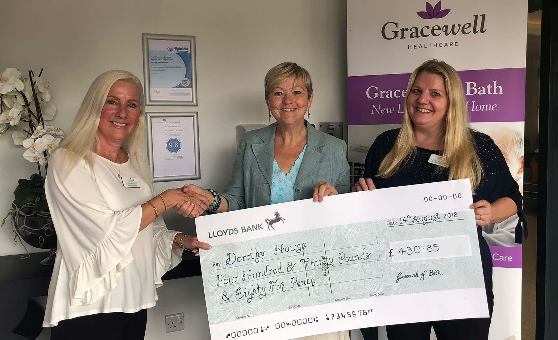 Gracewell of Bath raises £400 for Dorothy House at annual summer fayre