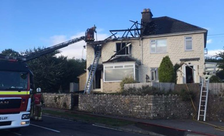 Fire crews tackle significant blaze at house on Bristol Road in Radstock