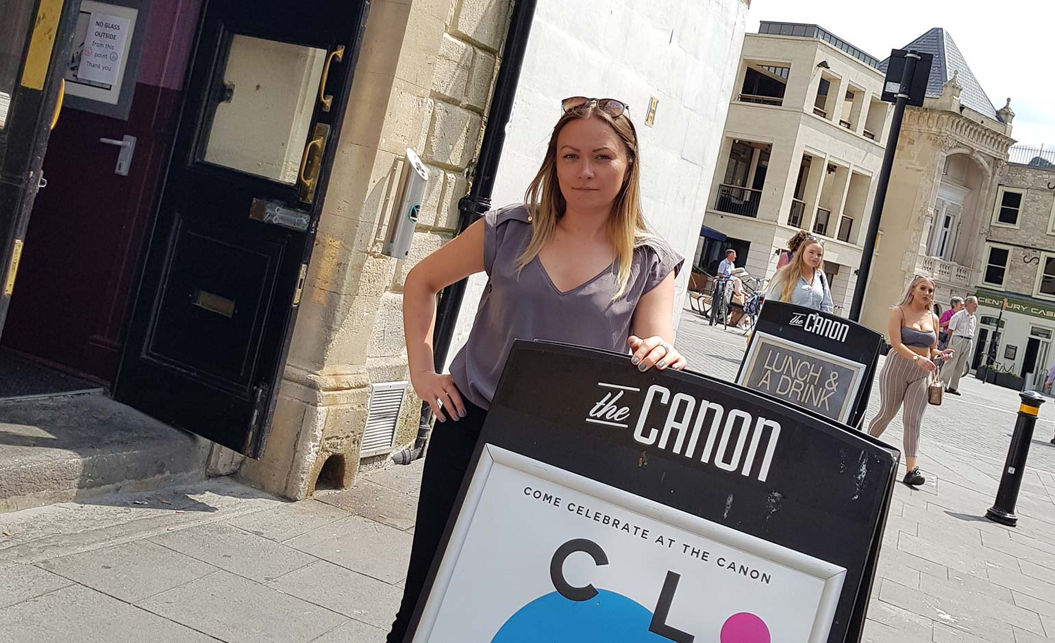 House of Commons reception for manager of The Canon pub in Bath