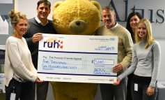 Bath finance company raises nearly £6000 for RUH's Children's Ward