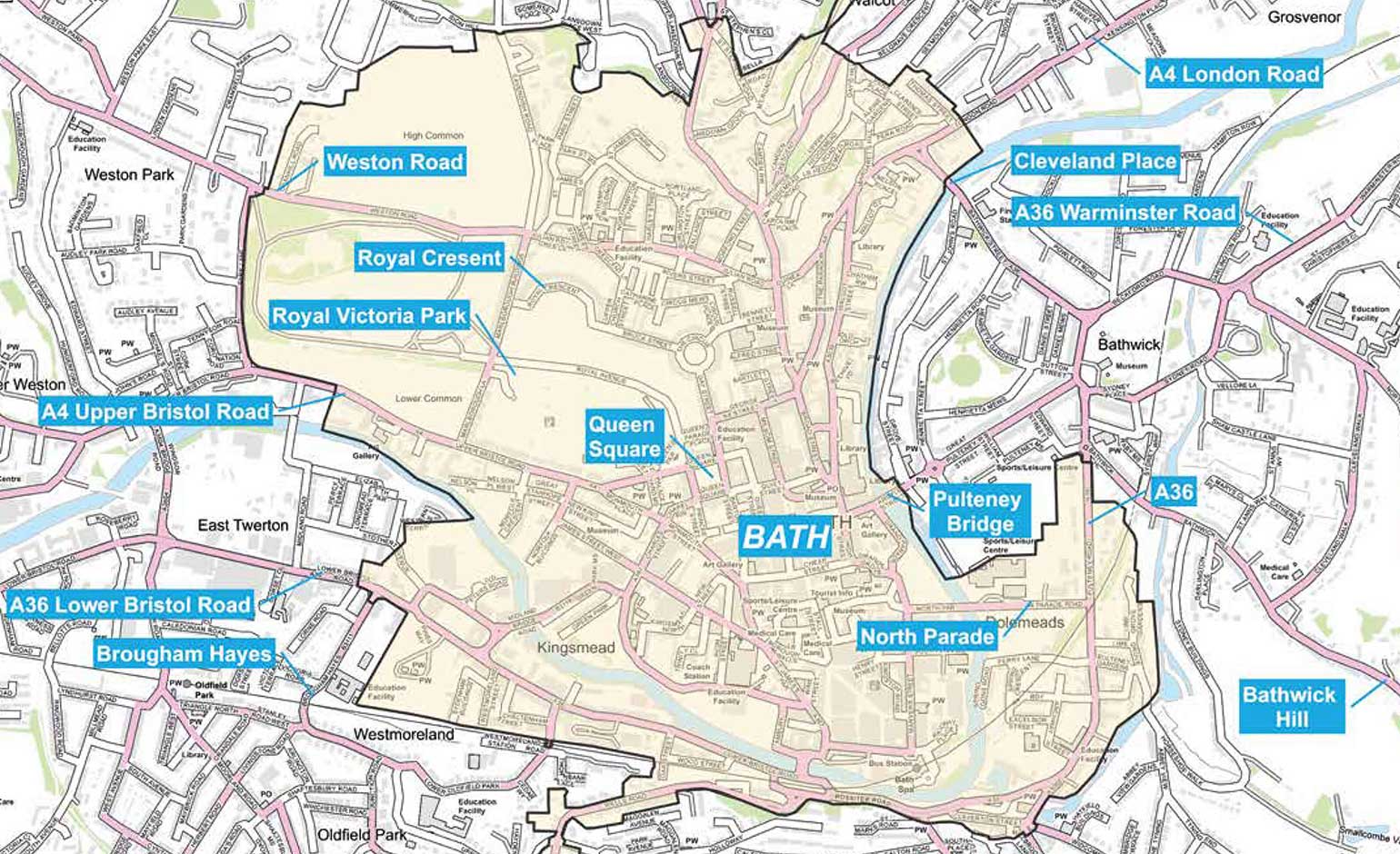 Consultation launches on potential £9 charge to drive into the centre of Bath