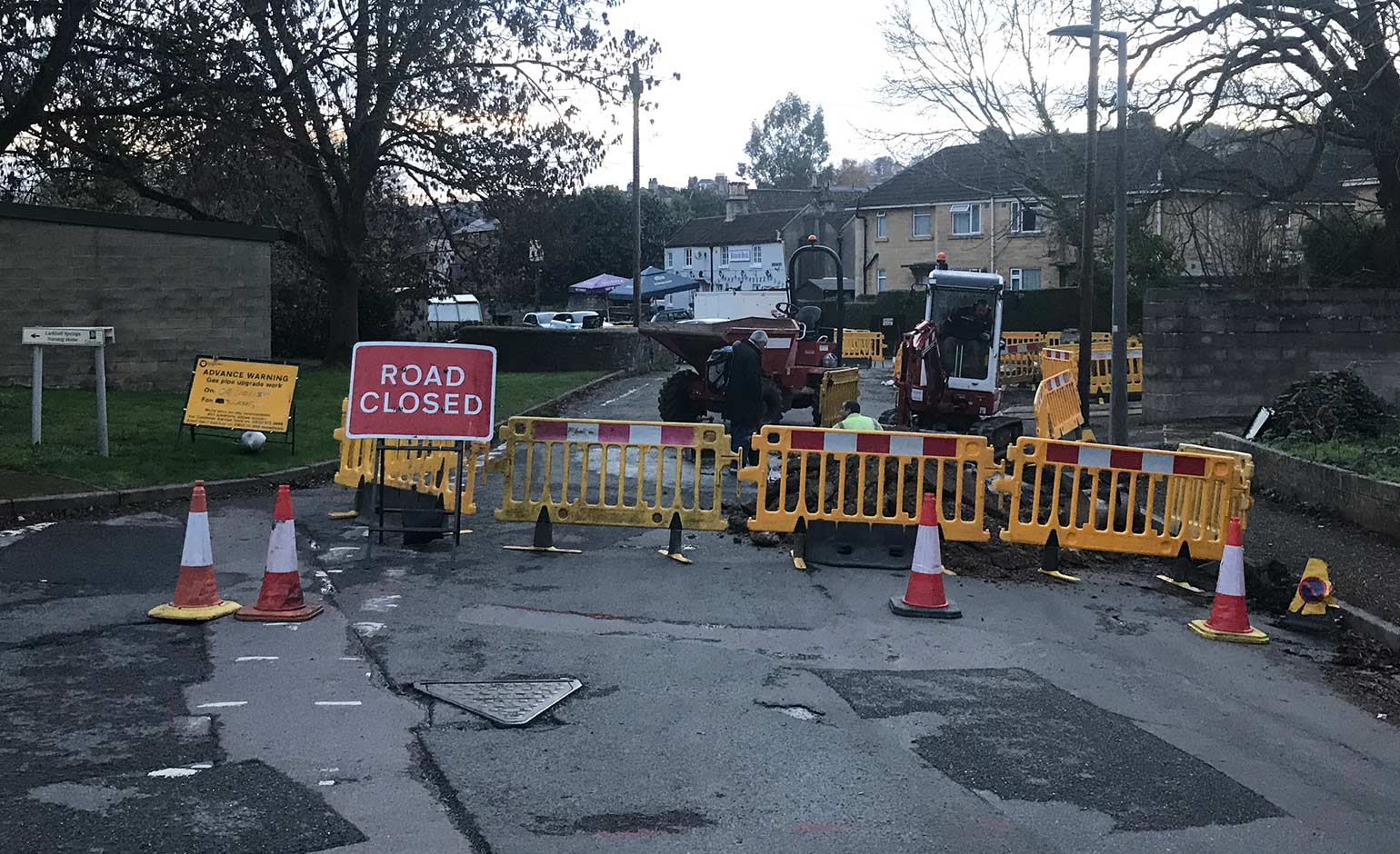 Gas pipe upgrade work in Larkhall set to be completed by end of November