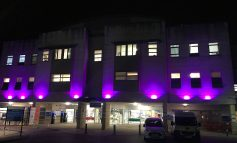 Bath's Royal United Hospital lit up purple to support World Prematurity Day