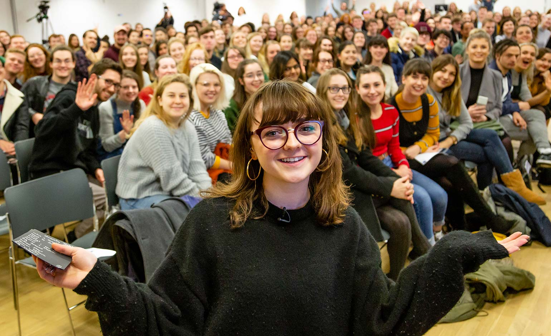 Maisie Williams visits Bath Spa University to celebrate creative industries