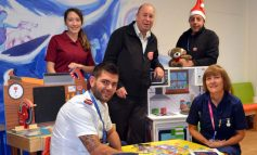 Apprentice 'elves' donate wooden toys to the RUH's Children's Ward