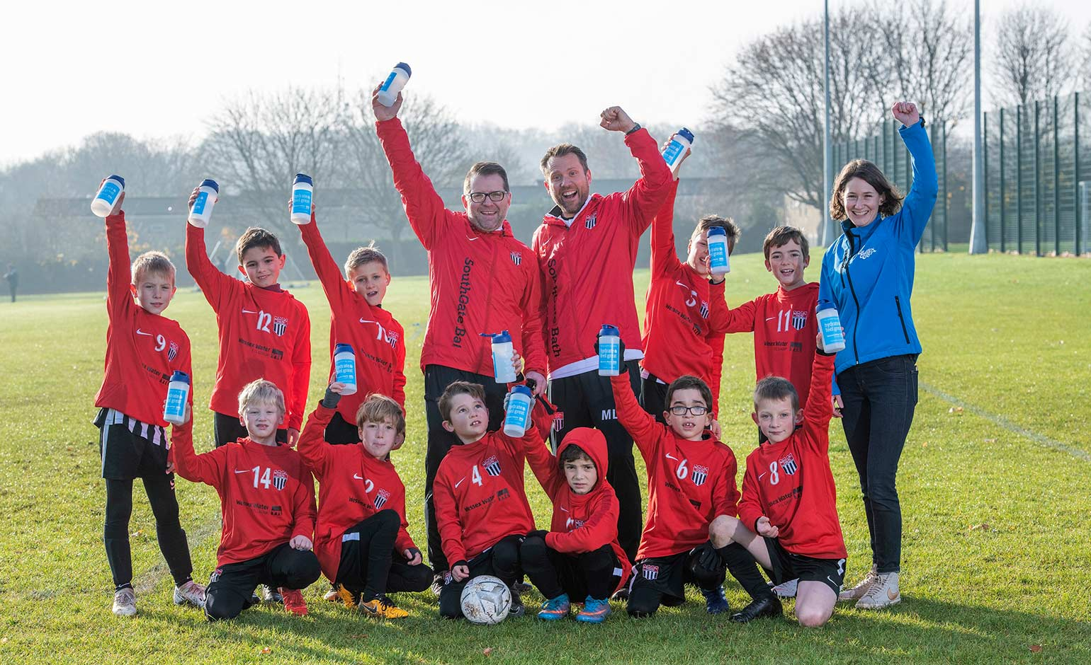 Bath City Under-9s to stay hydrated thanks to new sponsor Wessex Water