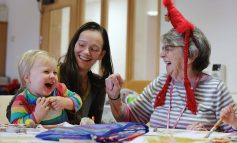 Toddlers join sheltered housing residents for Christmas 'messy play' date