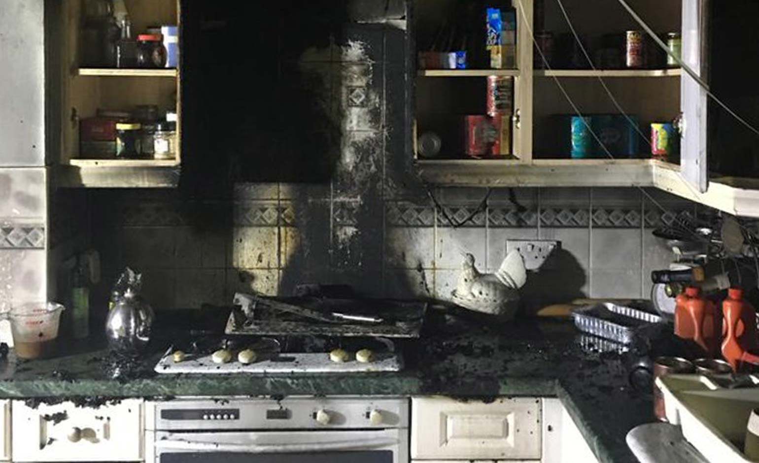 Two people taken to hospital following kitchen fire at property in Odd Down