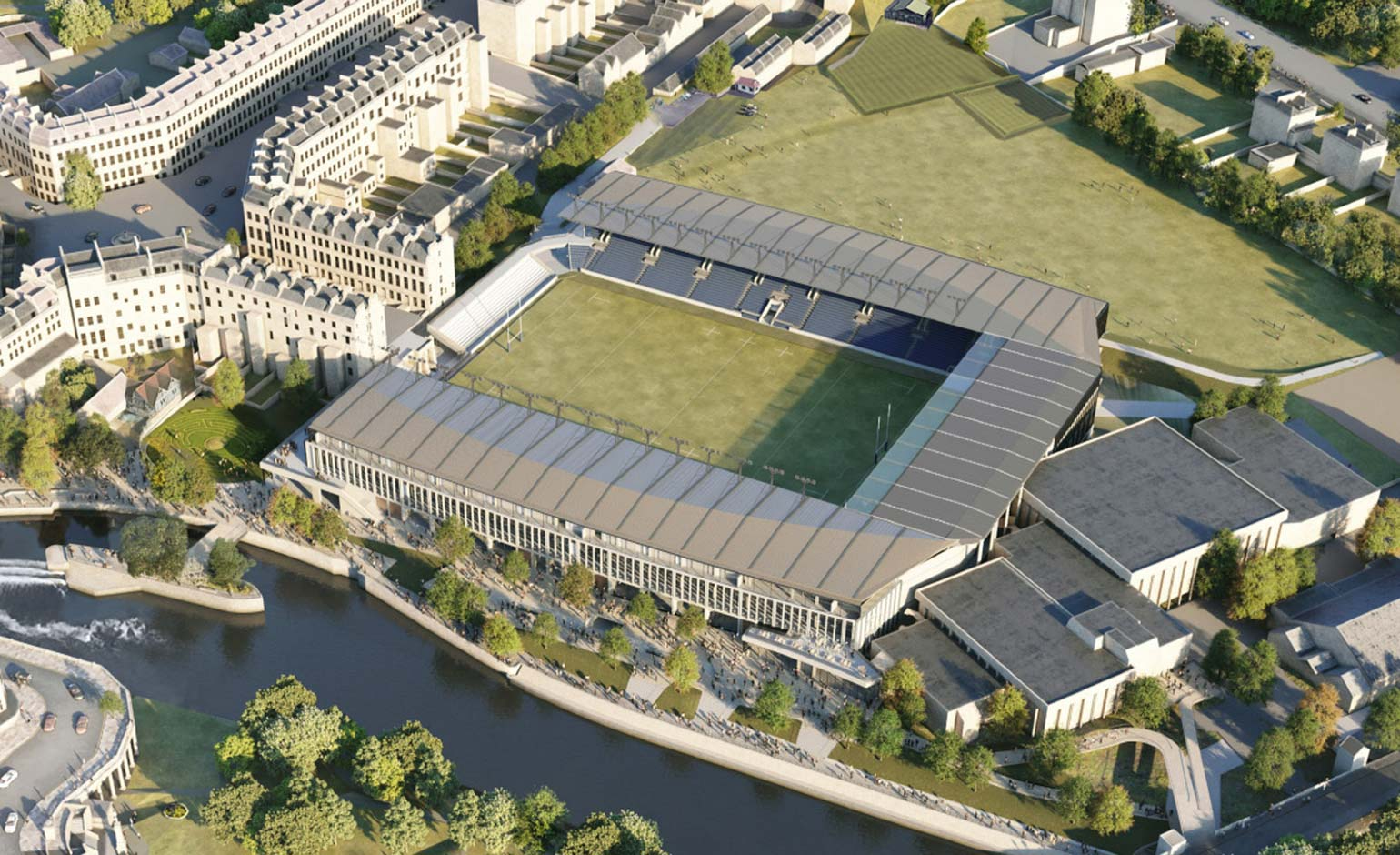 Stadium for Bath reveals latest concept at final round of public consultation