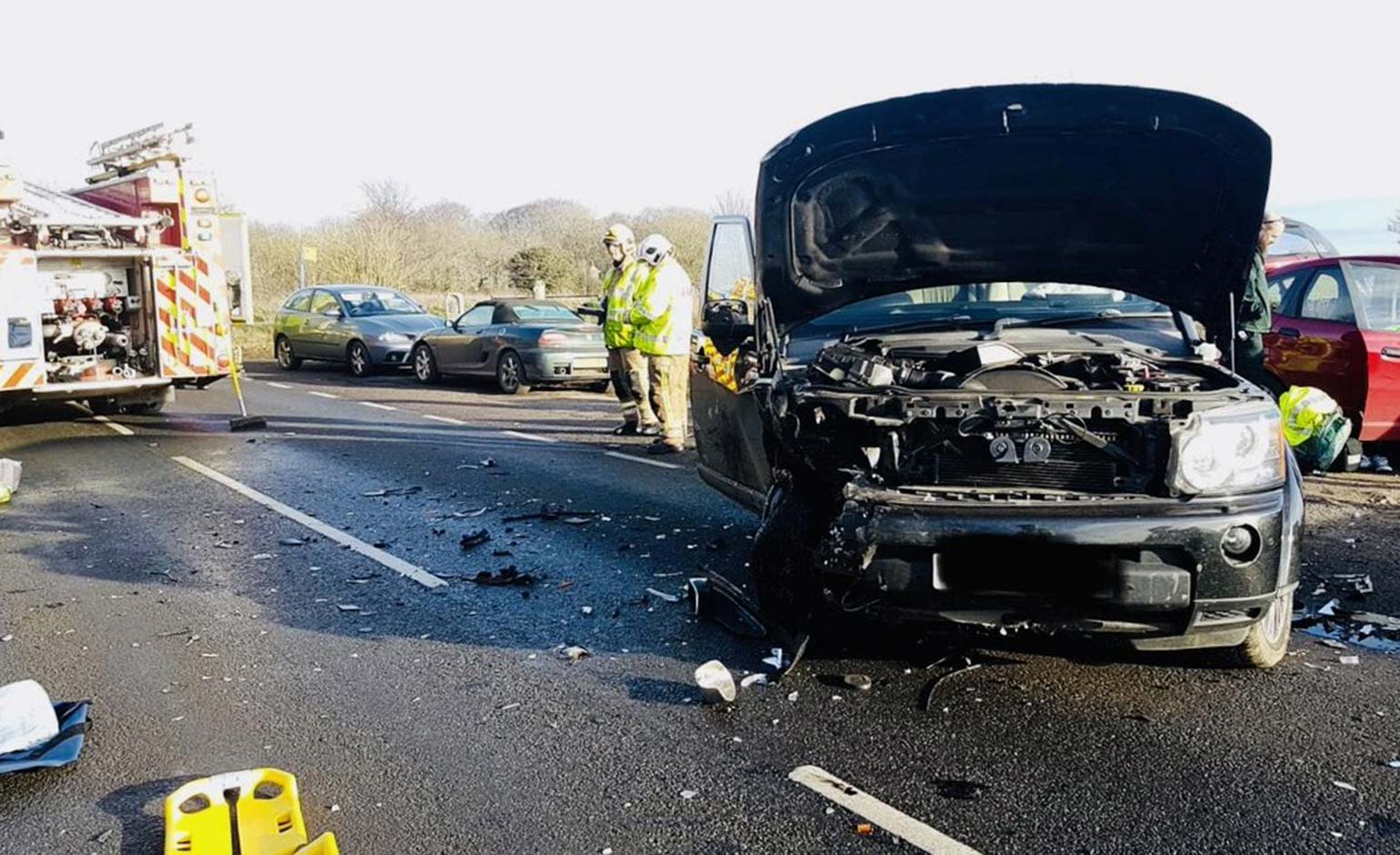 Appeal for witnesses and dashcam footage following Lansdown collision