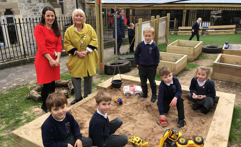 Local village school opens new £25,000 purpose-built outside play area