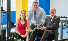 Amy Williams and Lewis Moody officially open new Team Bath gym facilities
