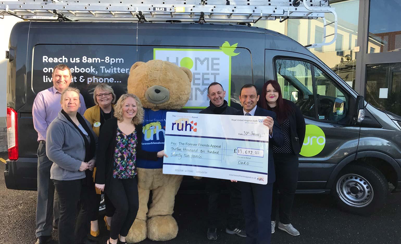 Bath housing association Curo raises over £13k for Dyson Cancer Centre