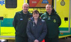 Local 32-year-old woman thanks ambulance crew following cardiac arrest