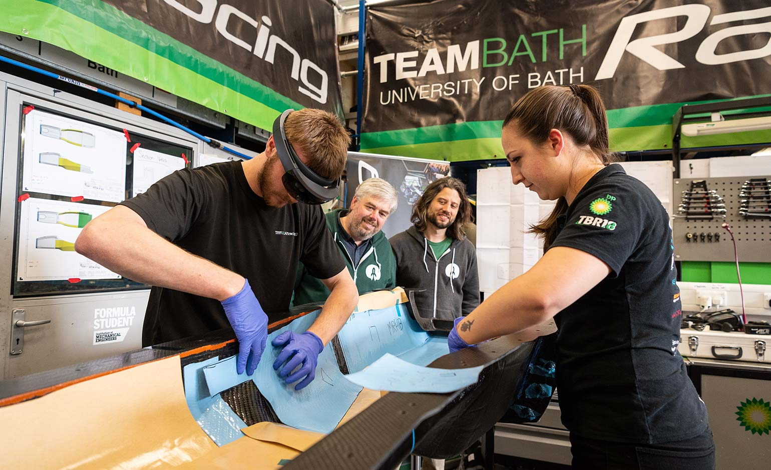 Team Bath Racing use new AR tool for world-first car production technology