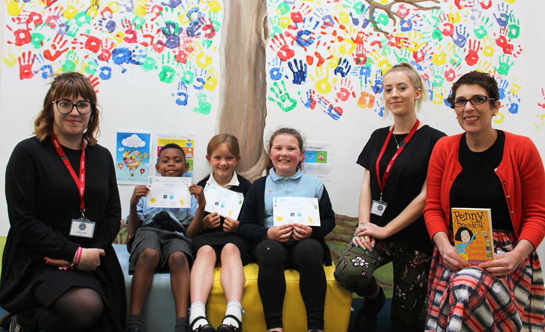 Local novelist celebrates reading scheme success with Bath schoolchildren